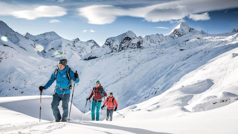 Skitour auf den Tristkogel am Kitzsteinhorn in Salzburg