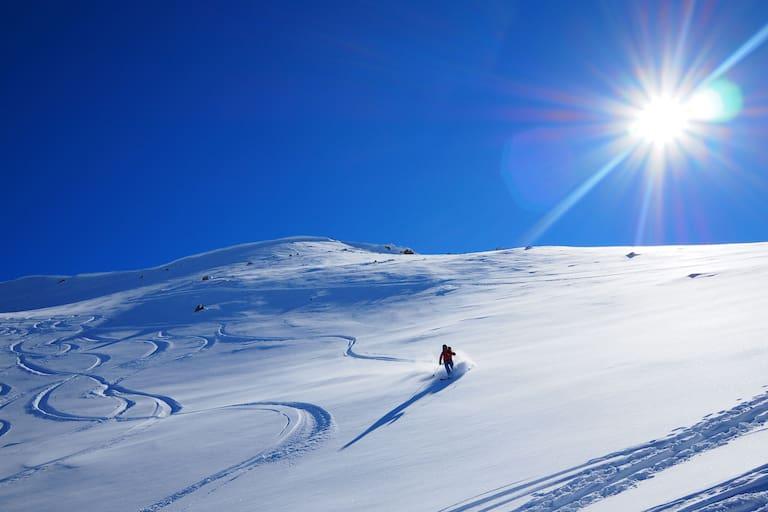 Freeriden im Val Müstair in der Schweiz