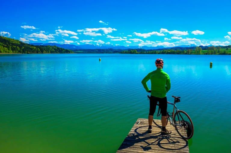 Der Waginger See ist ein Naturjuwel in den Chiemgauer Alpen