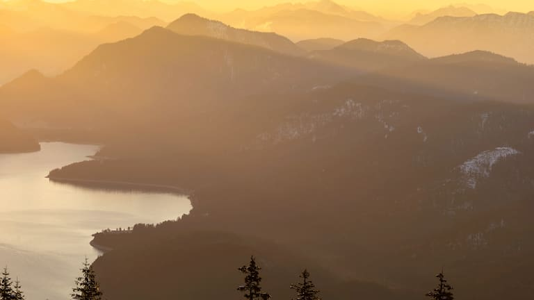 Walchensee in den bayerischen Voralpen
