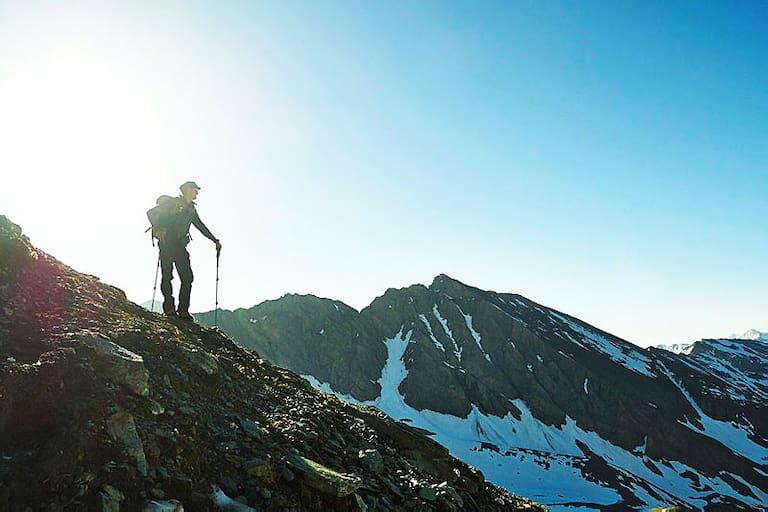 Wanderer in der Glocknergruppe in Tirol