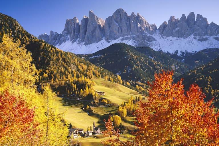 Geislerspitzen in den Dolomiten in Südtirol