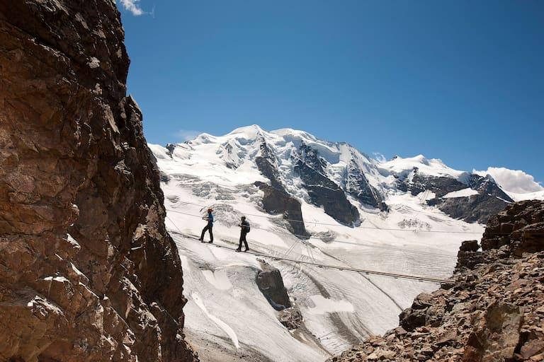 Klettersteig Piz Trovat Engadin