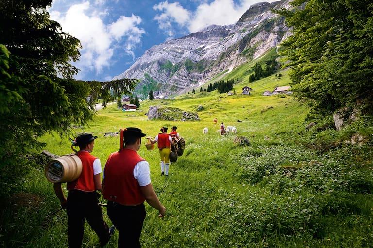 Appenzellerland: Alpfahrt auf der Schwaegalp