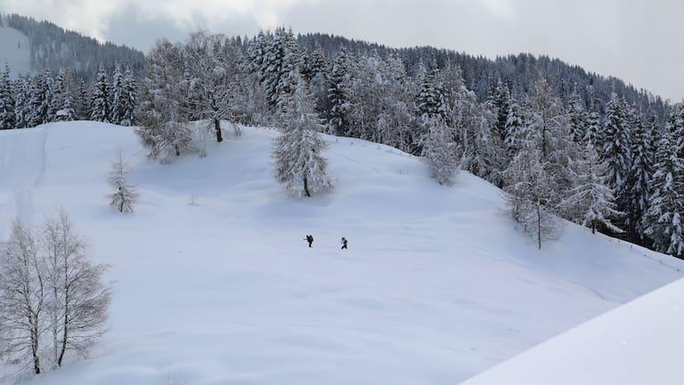 Winterwandern in Kärnten: Zur Kohlröslhütte am Weissensee