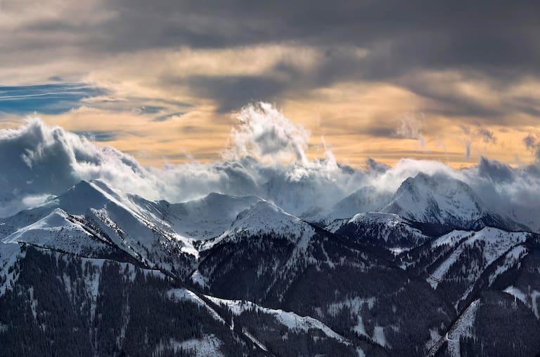 Alpen Wolken Neuschnee