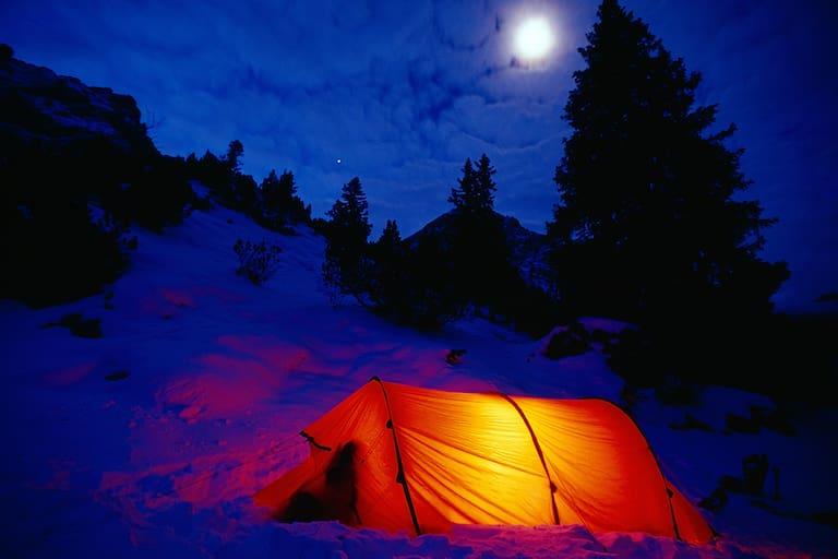 Winter: Zelten im Karwendel-Gebirge