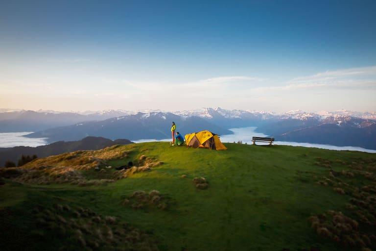 Die schönsten Zeltplätze der Alpen