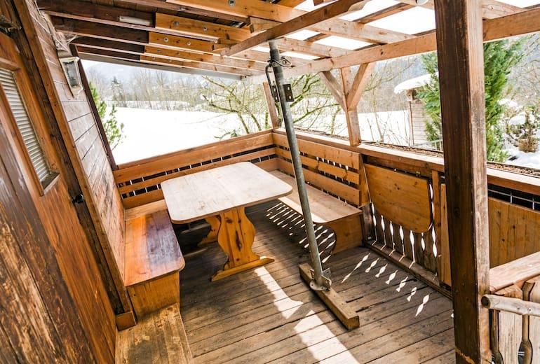 Gemütlicher Balkon der Aste Reitbichl