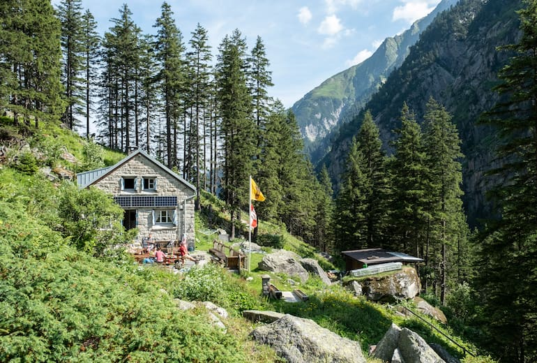 Die Treschhütte im Fellital