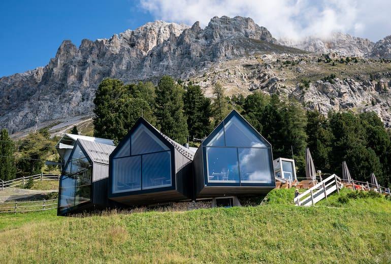 Panoramafenster der Berghütte Oberholz