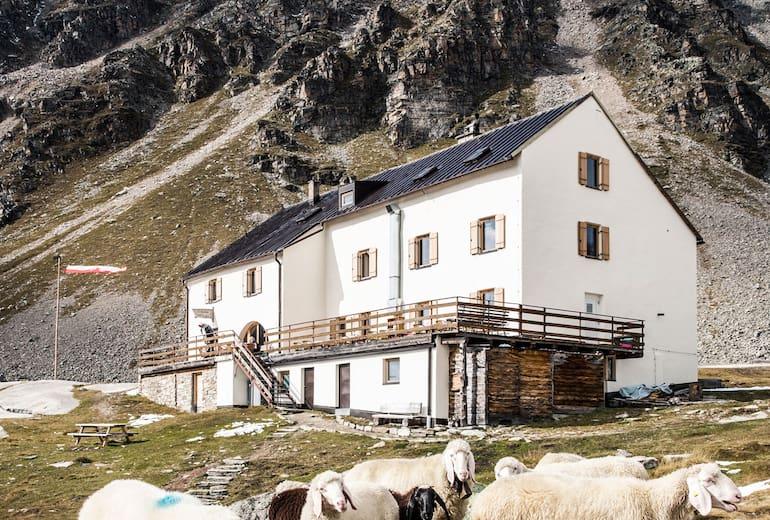Die Düsseldorfer Hütte in Südtirol
