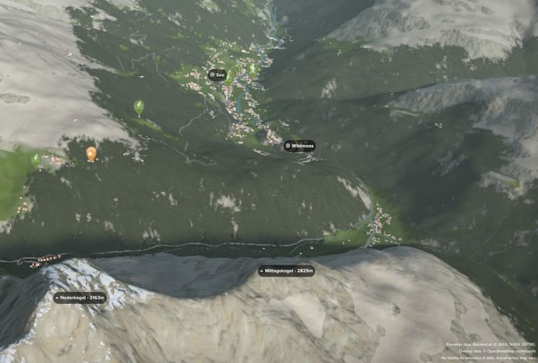 3D Ansicht der Gaislach Alm