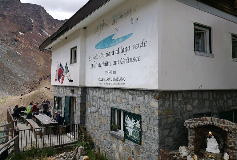Höchster Hütte oder Rifugio Canziani