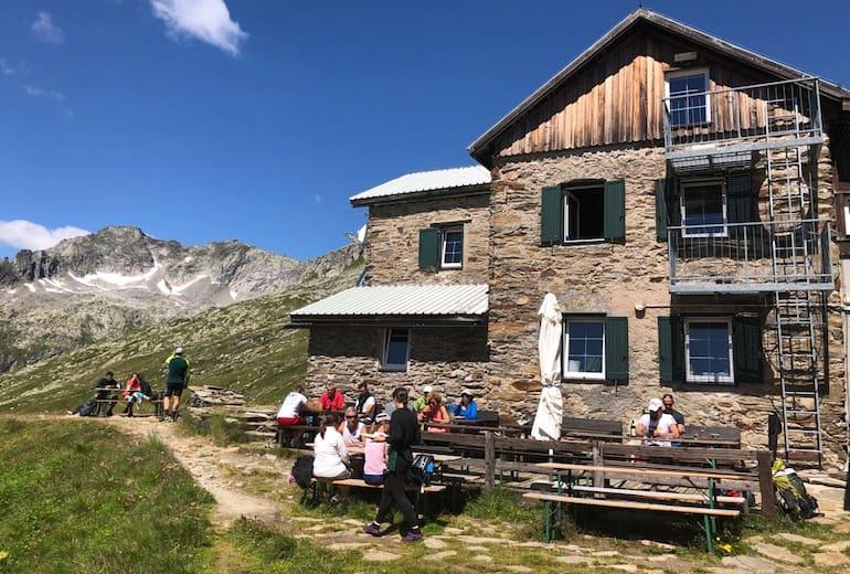 Die Birnlückenhütte im Ahrntal