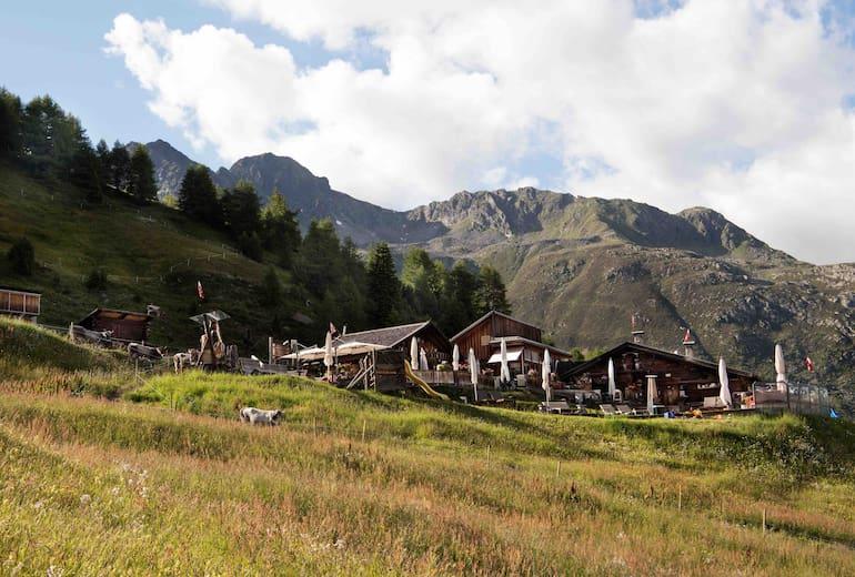 Die Gampe Thaya oberhalb von Sölden in den Ötztaler Alpen.