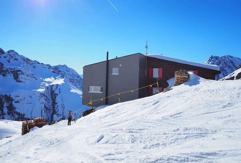 Silvrettahütte im Winter