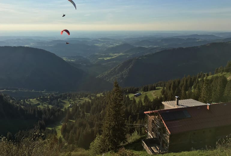 Staufner Haus - Gleitschirmfliegen