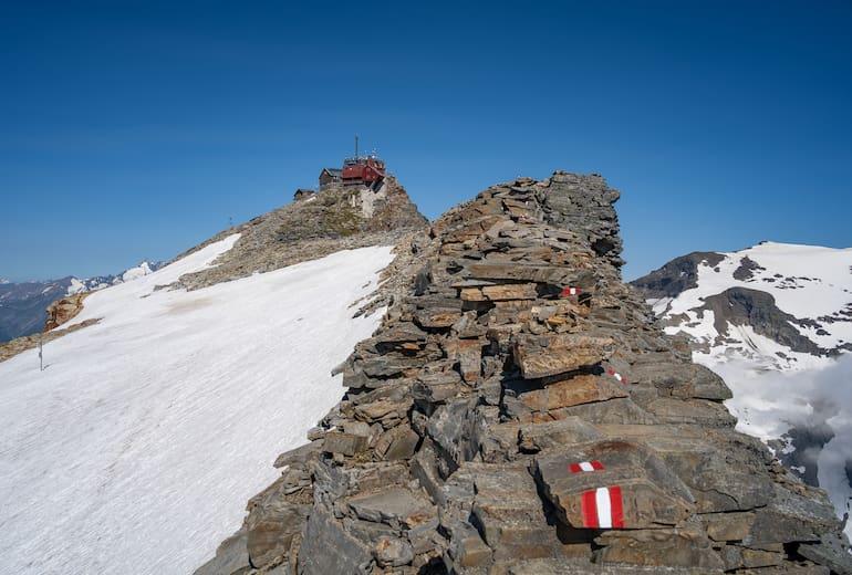 Zittelhaus mit Gipfelgrat