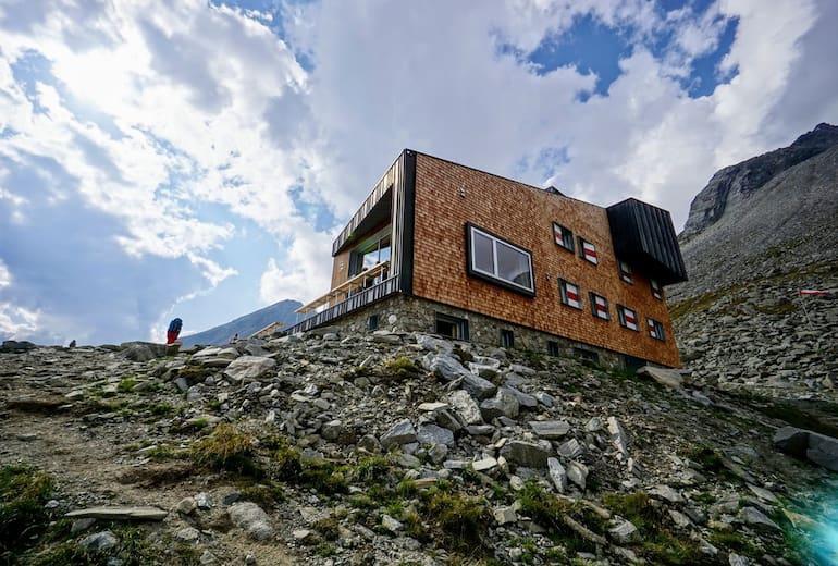 Die Edelrauthütte, modern, aber sehr gemütlich