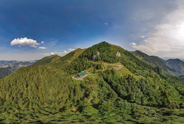 Ennser Hütte - Luftansicht Panorama