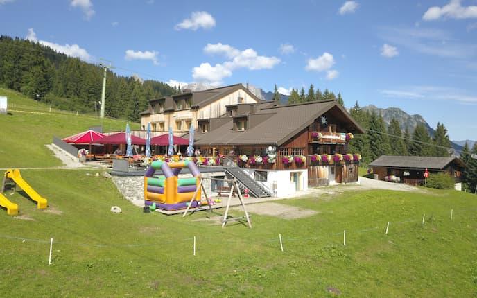 Das Haus Matschwitz wird im Sommer gerne von Wanderern besucht.
