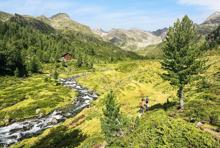 Auf dem Weg zur Lienzer Hütte im Debanttal.