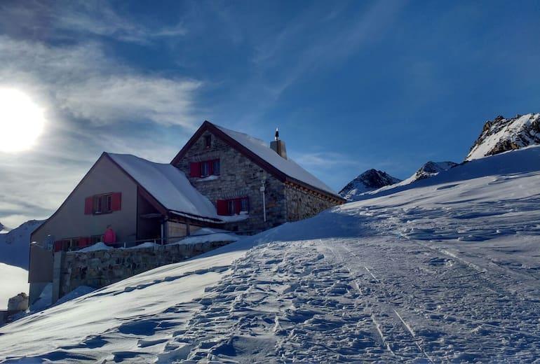 Rotondo Hütte im Winter