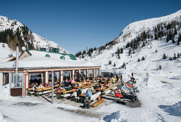 Das Valeriehaus im Winter.