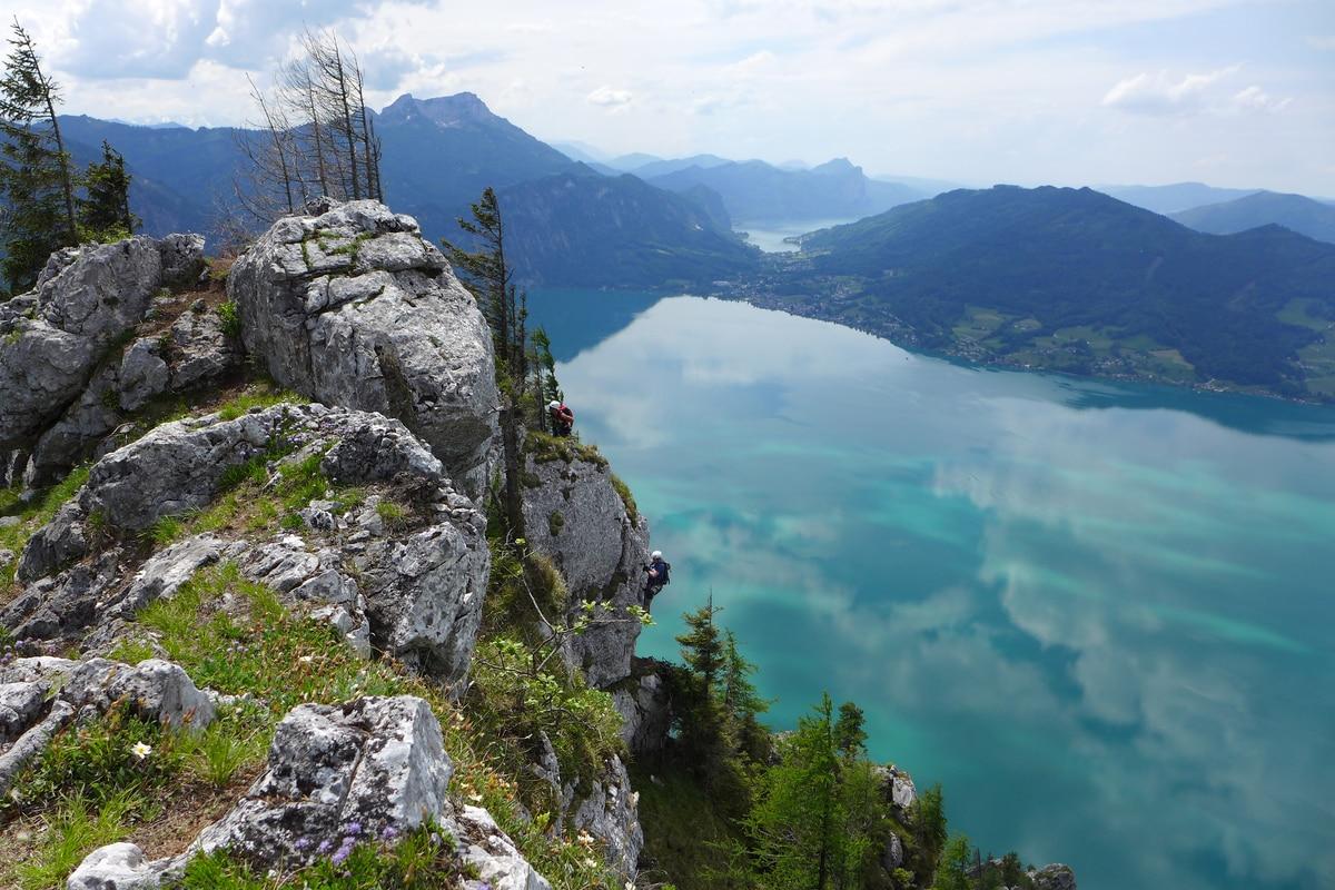Klettersteig Traunstein : Klettersteige: naturfreundesteig auf den traunstein 3km bergwelten