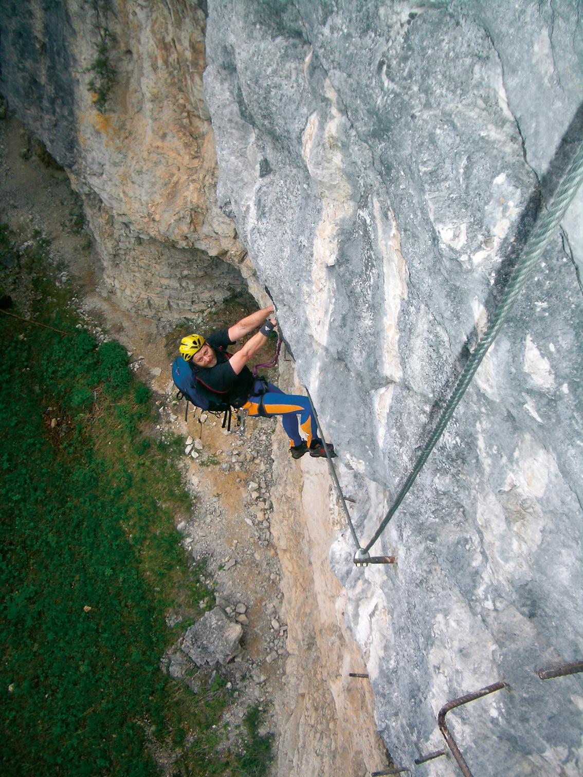 Klettersteig Postalmklamm : Klettersteige postalmklamm klettersteig d e variante f km
