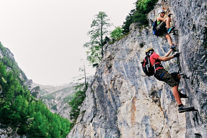Klettersteig Bandschlinge : Klettersteige hias klettersteig km bergwelten