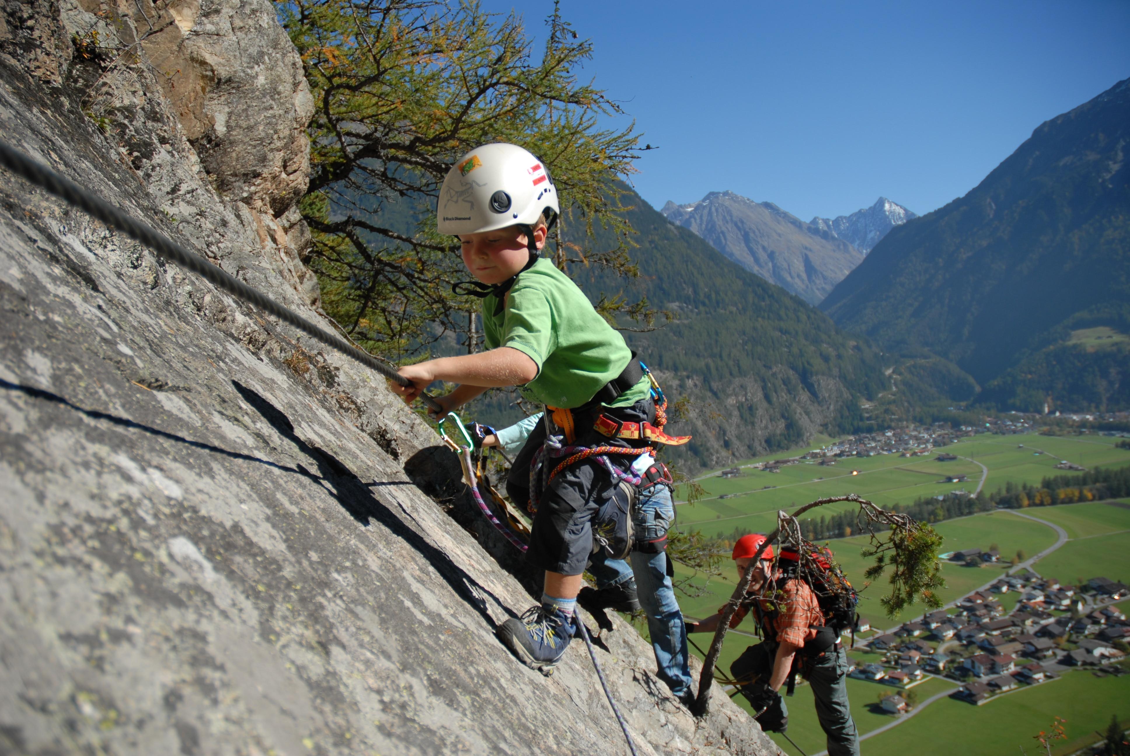 Klettersteigset Kinder : Tipps vom profi: klettersteige mit kindern bergwelten