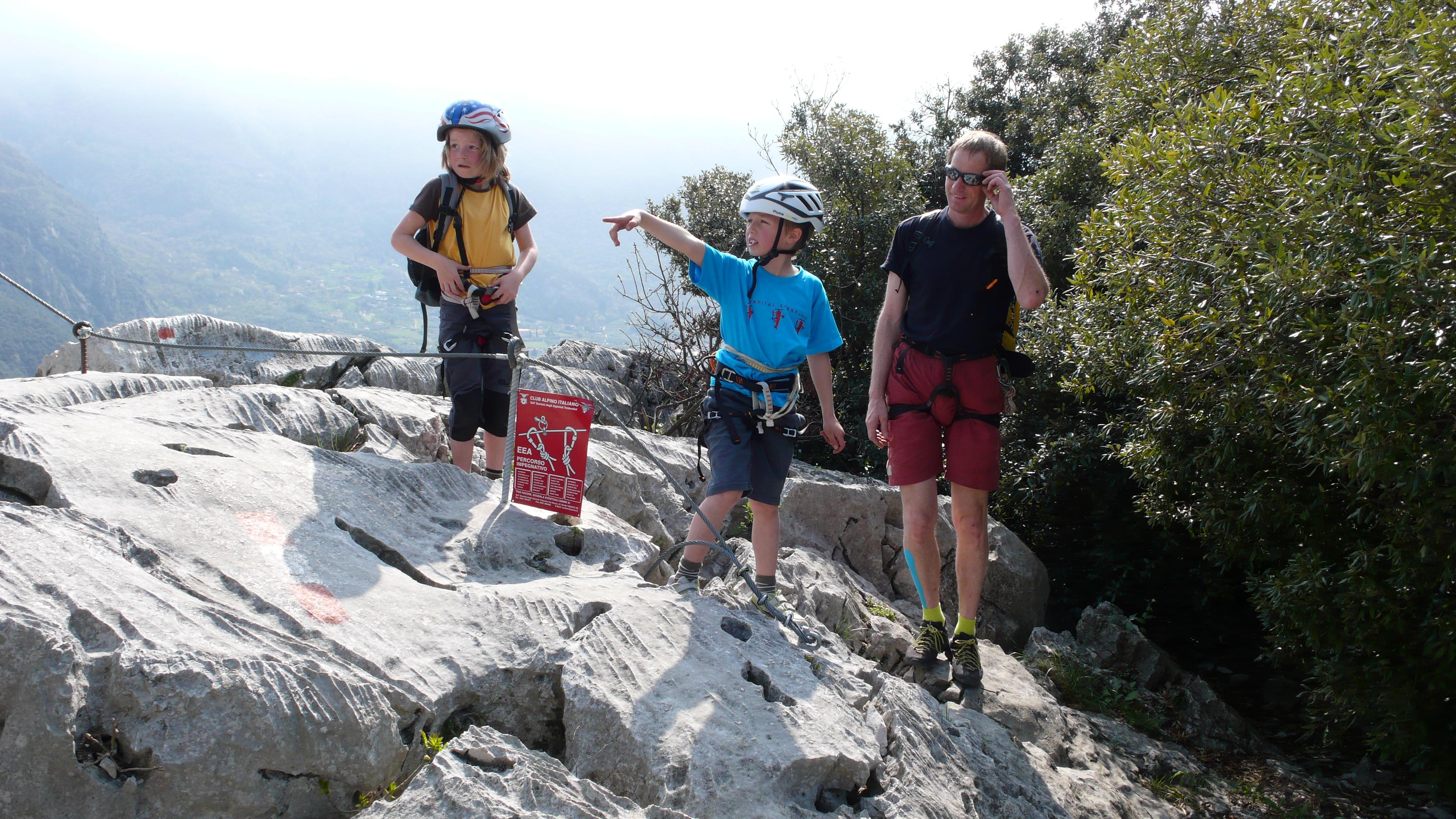 Klettersteig Colodri : Klettersteig colodri interessanter und leichter hoch