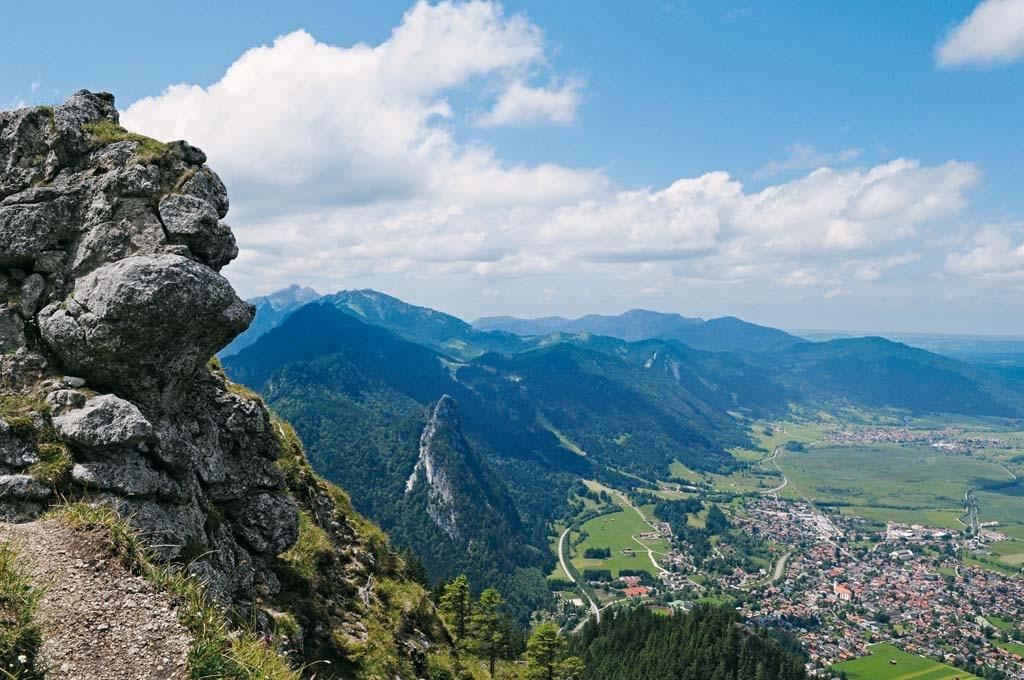 Klettersteig Oberammergau : Wandern von oberammergau über den schartenkopf auf laber