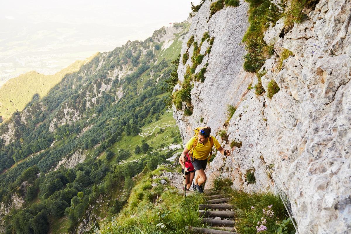 Klettersteig Untersberg : ▷ wandern: untersberg dopplersteig bergwelten