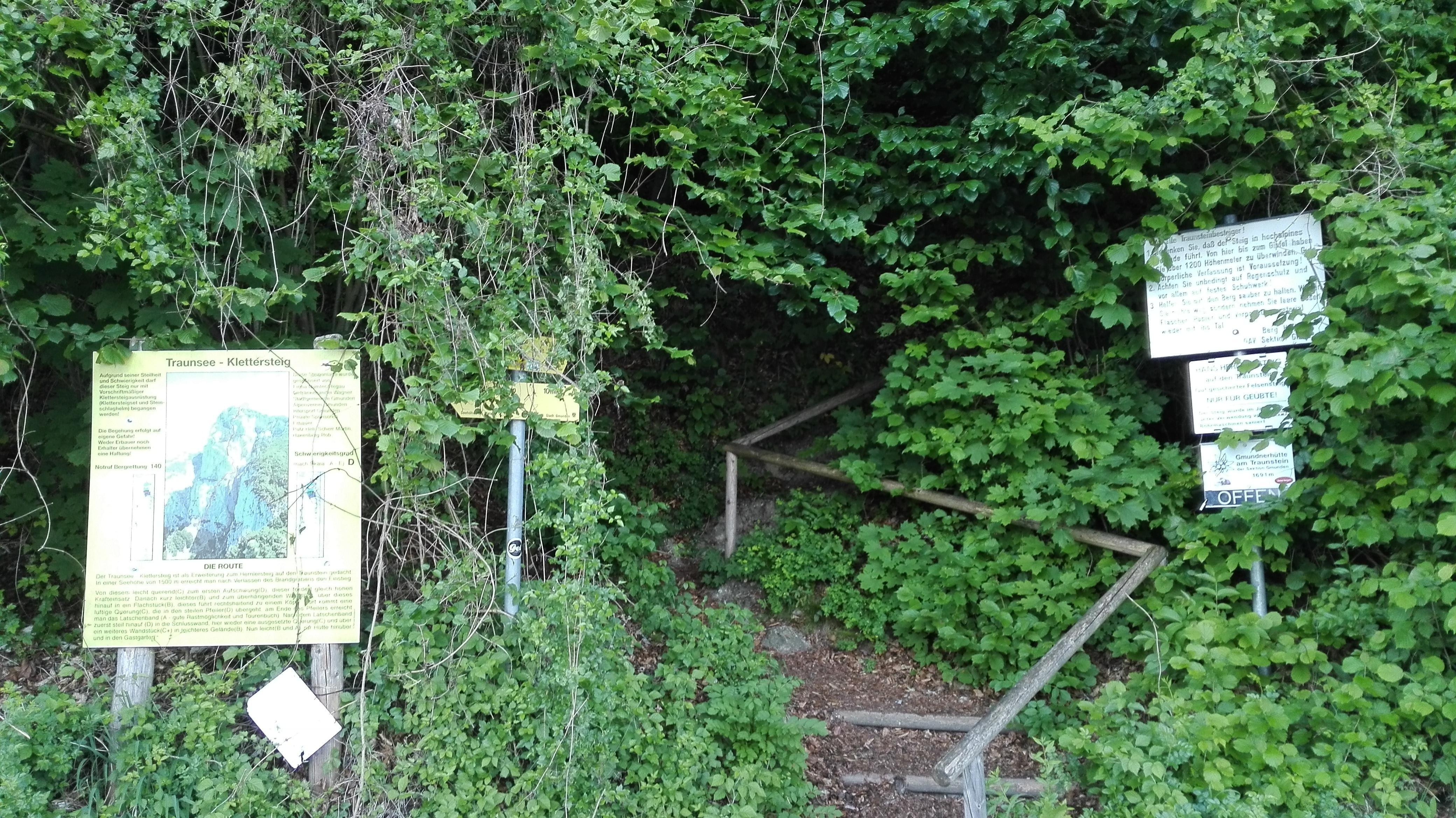Klettersteig Traunstein : Sonstige: trailrunning hernler mairalm steig traunstein 12km