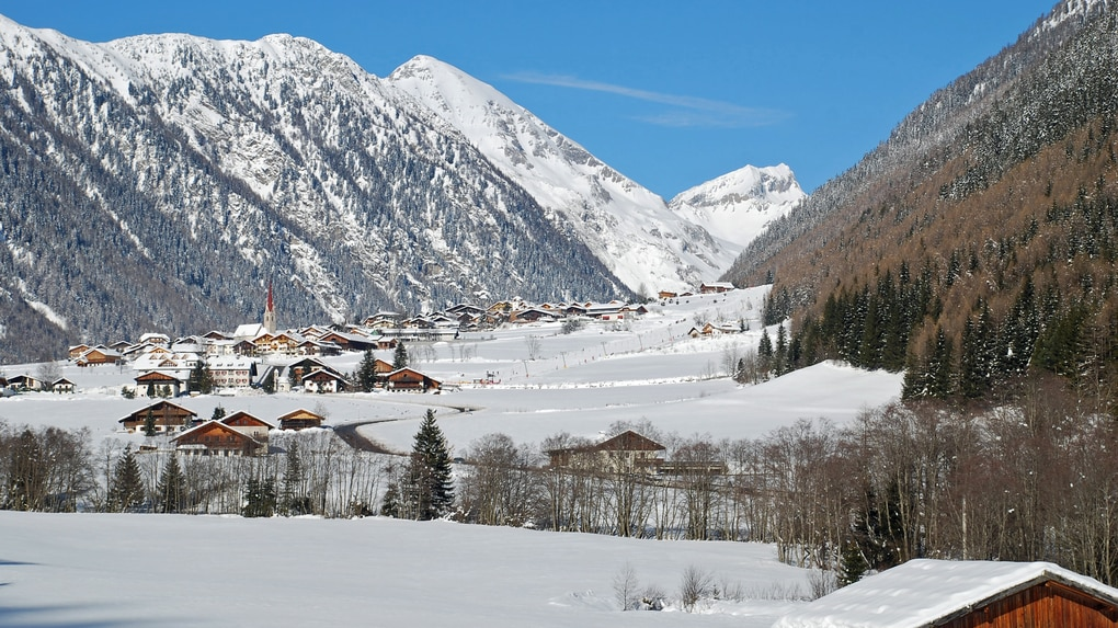 Winterlandschaft in Vals