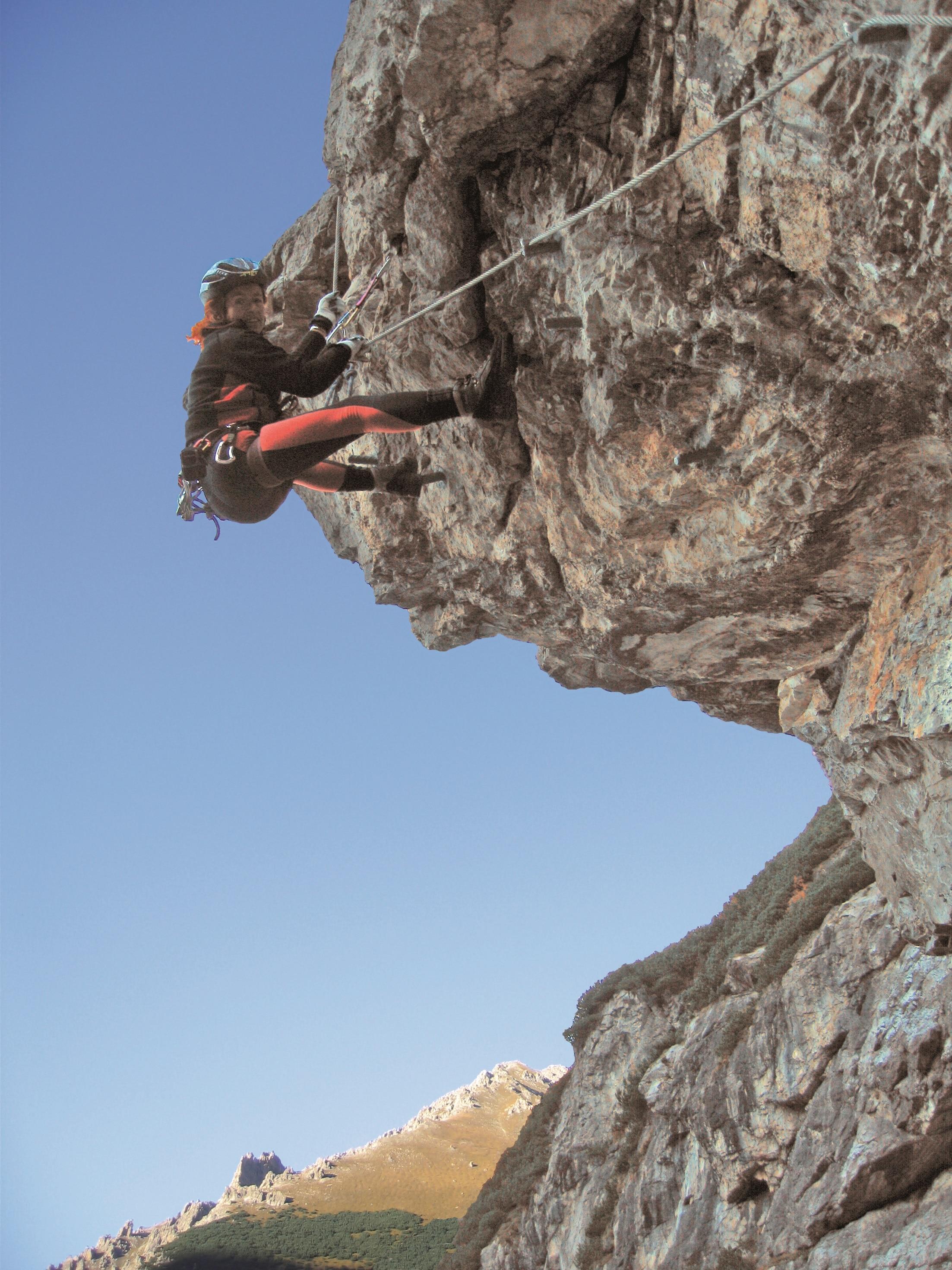 Klettersteig F : Bürgeralm klettersteig mit arenavariante f g