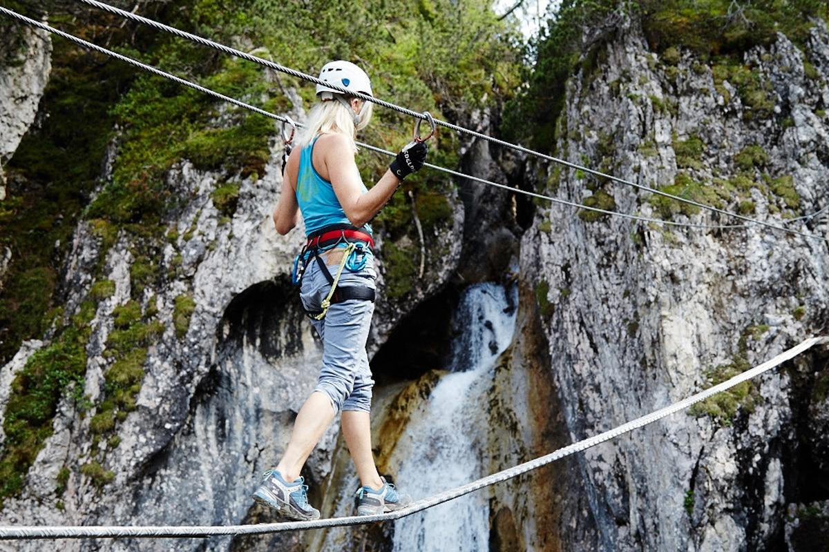 Klettersteig Wolfgangsee : Postalmklamm klettersteig