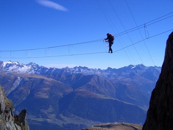 Klettersteig Tegernsee : Klettersteige klettersteig am eggishorn km bergwelten