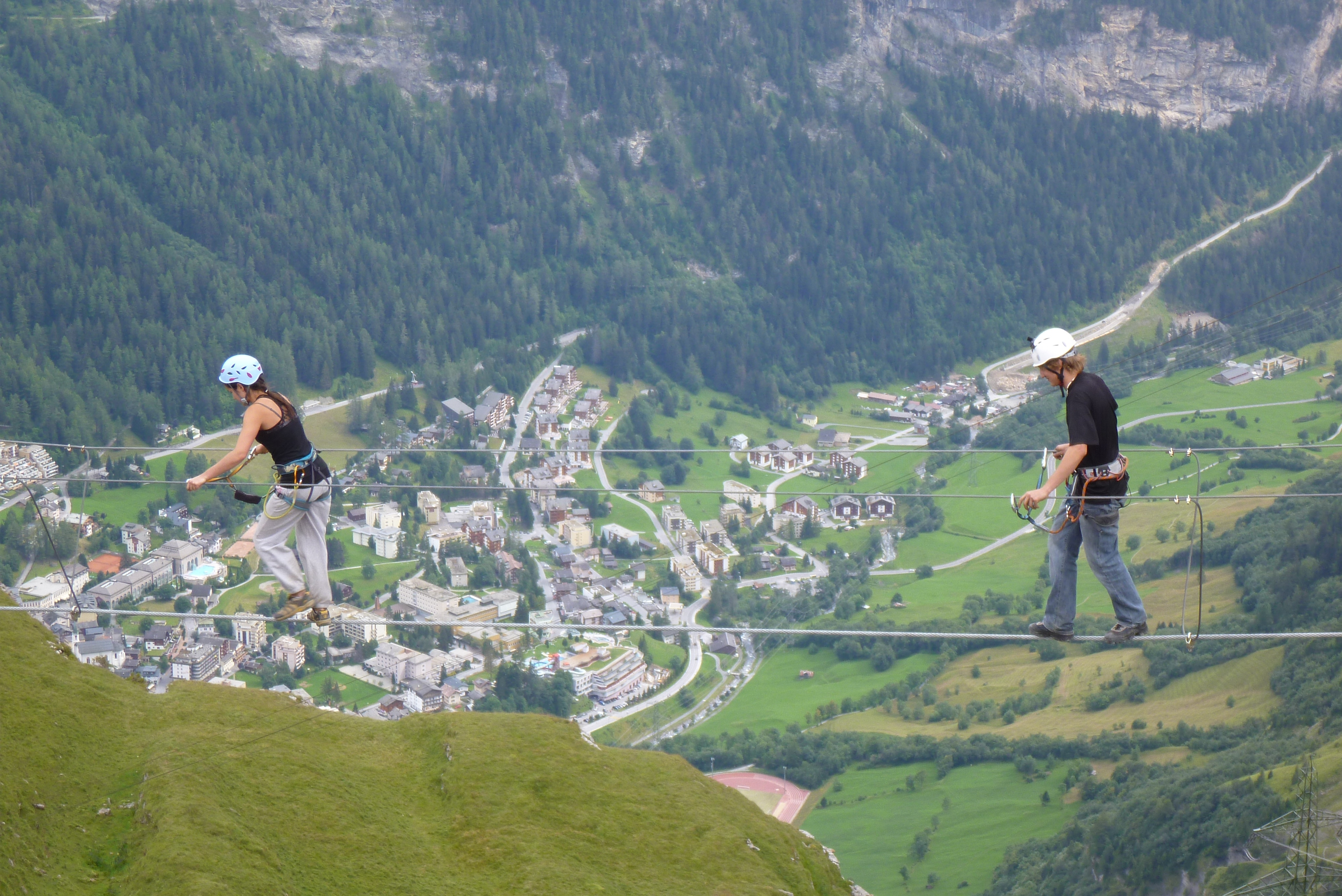 Klettersteig Leukerbad : Klettersteig gemmiwand