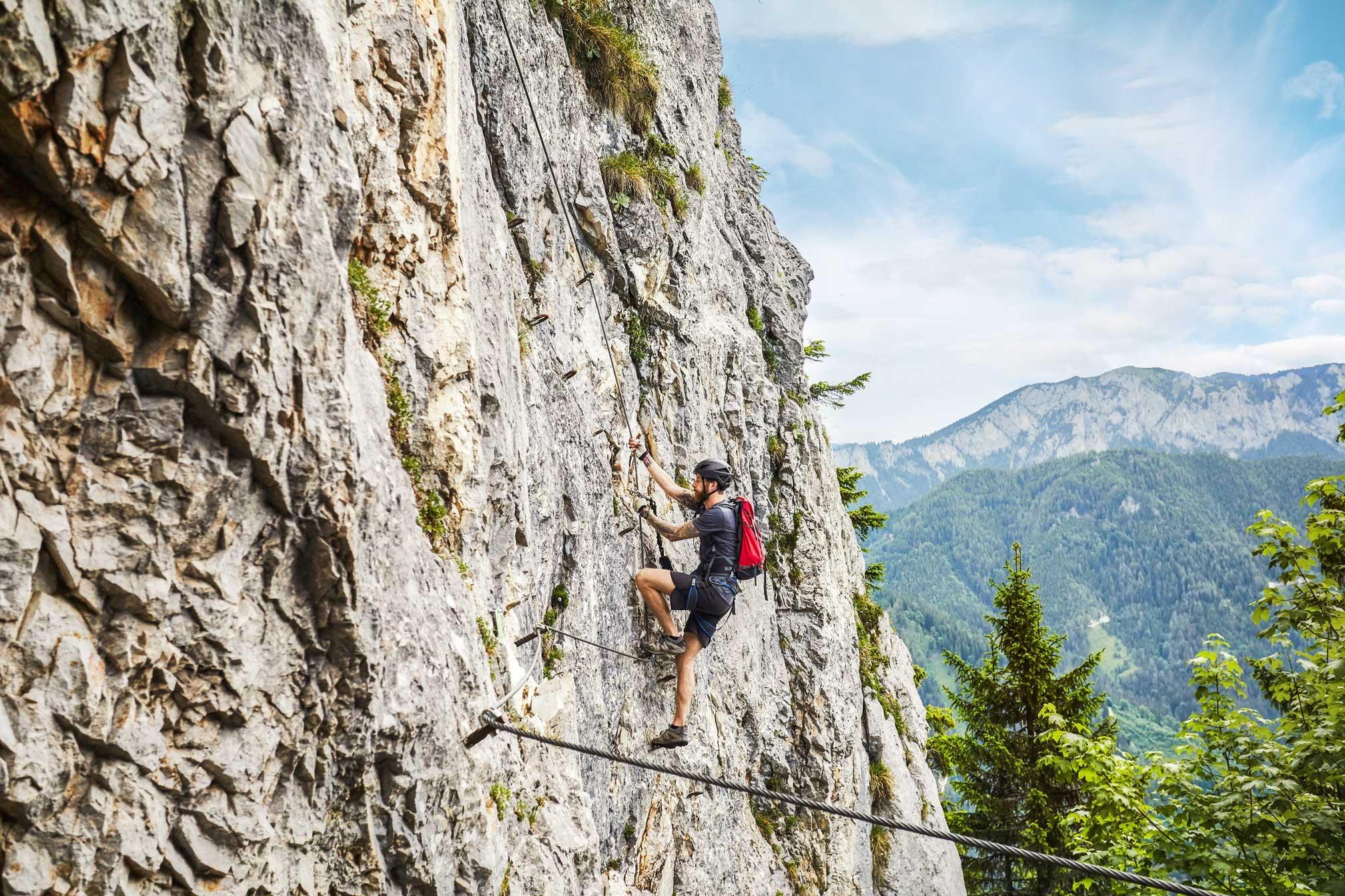 Klettersteig Griffen : Pisciadù klettersteig sella dolomiten