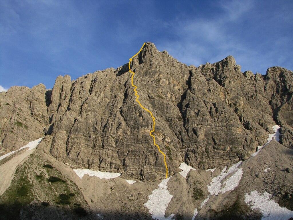 Klettersteig Lachenspitze : Klettersteige: lachenspitze nordwand 0km bergwelten
