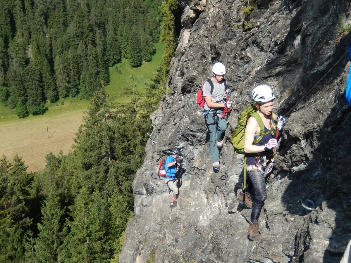 St Jodok Klettersteig : Klettersteige: peter kofler klettersteig u2013 stafflacher wand 4km