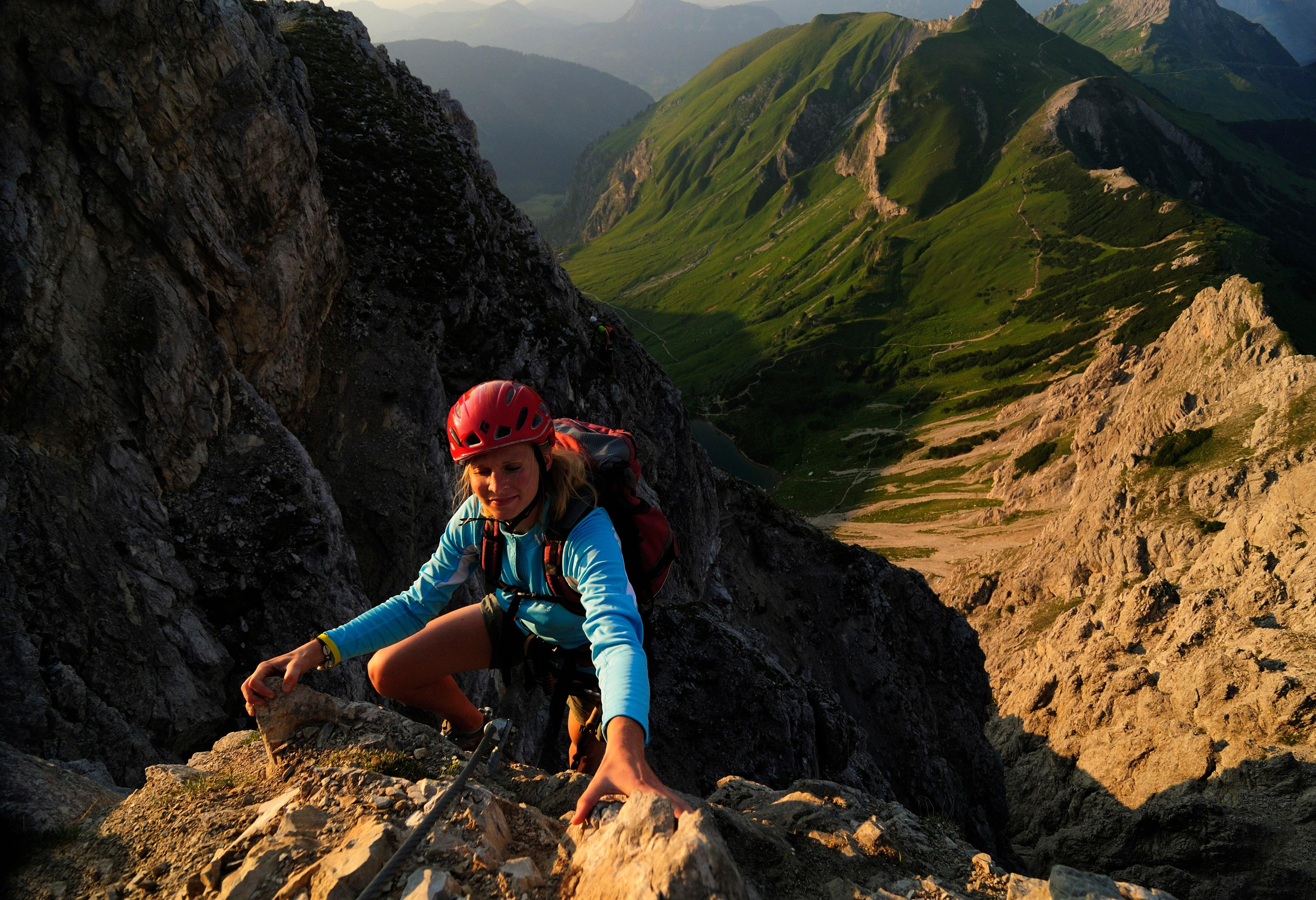 Klettersteig Tannheimer Tal : Klettersteige lachenspitze nordwand km bergwelten