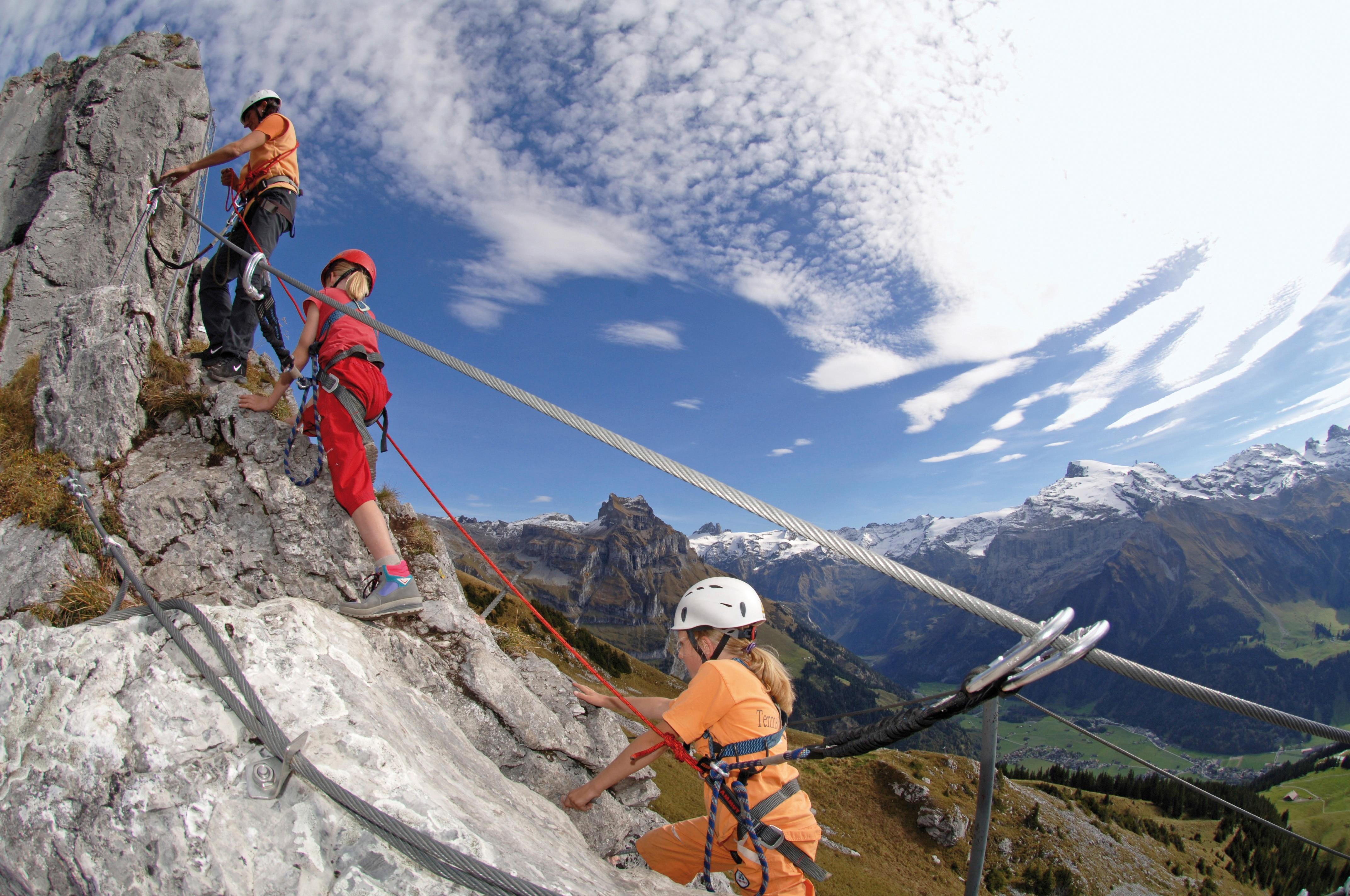 Klettersteig Engelberg : Klettersteige klettersteig brunnistöckli km bergwelten