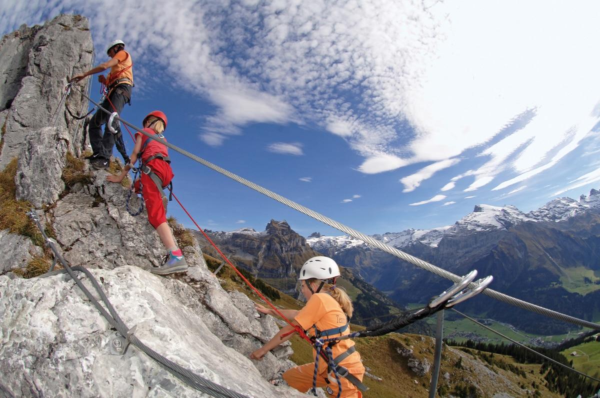 Klettersteig Engelberg : Klettersteige: klettersteig brunnistöckli 1km bergwelten