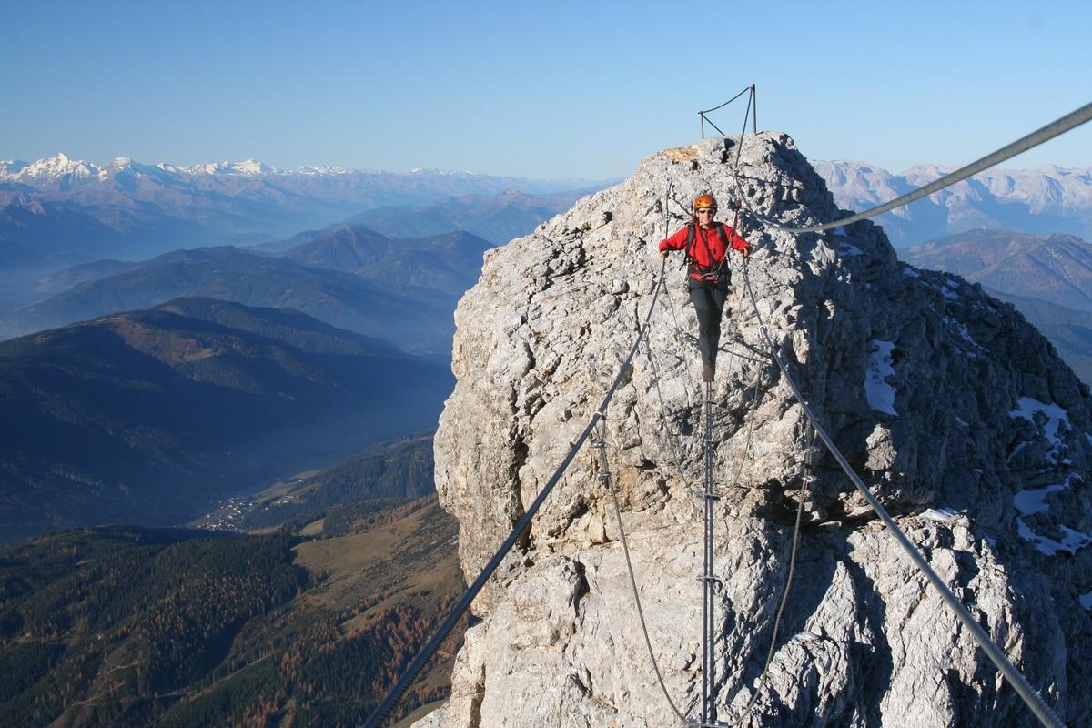 Klettersteig Gosau : Klettersteige: irg & koppenkarstein westgrat klettersteig 1km