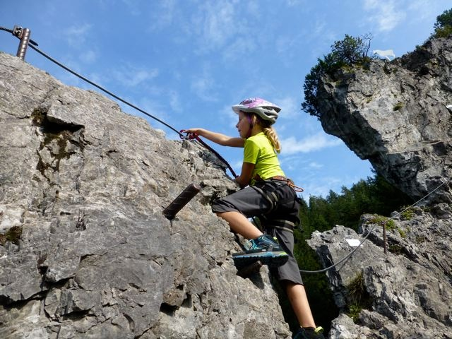 Klettersteig Katrin : Klettersteige: kinderklettersteig kali und jugendklettersteig kala